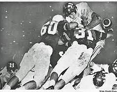 Pat Culpepper and Treadwell - The Hit in 1962 - Texas 7 Arkansas 3. Joe Dixon recovered the fumble in the end zone.
