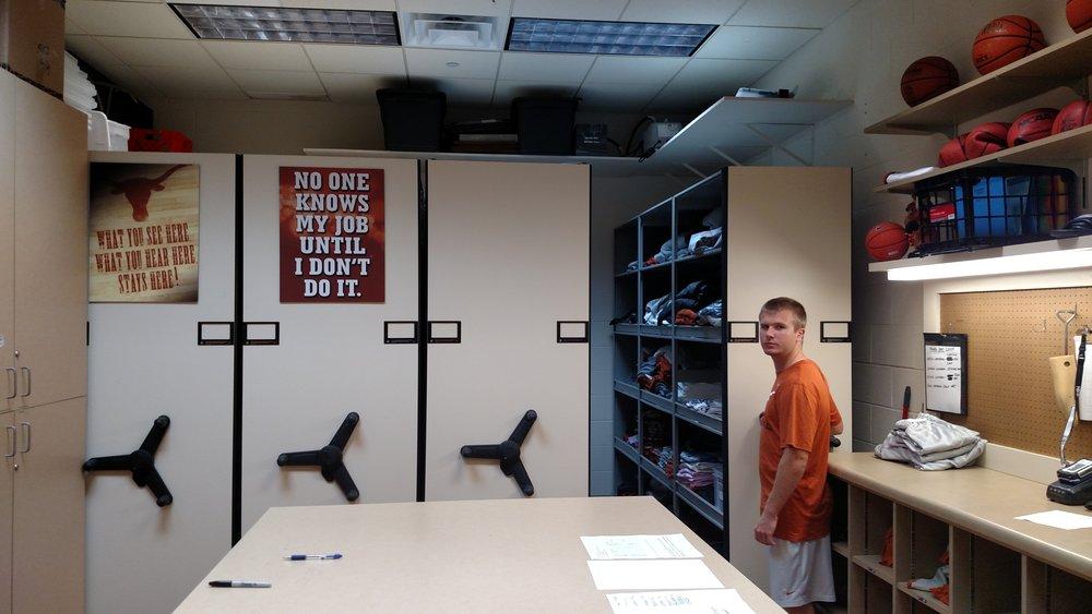 Basketball Supply Room out of season