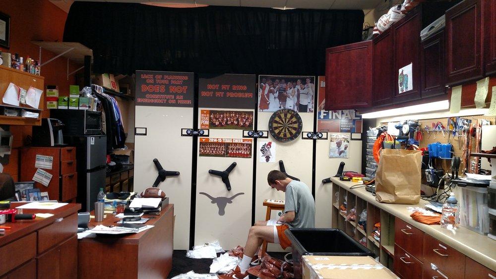 Basketball Supply Room in season
