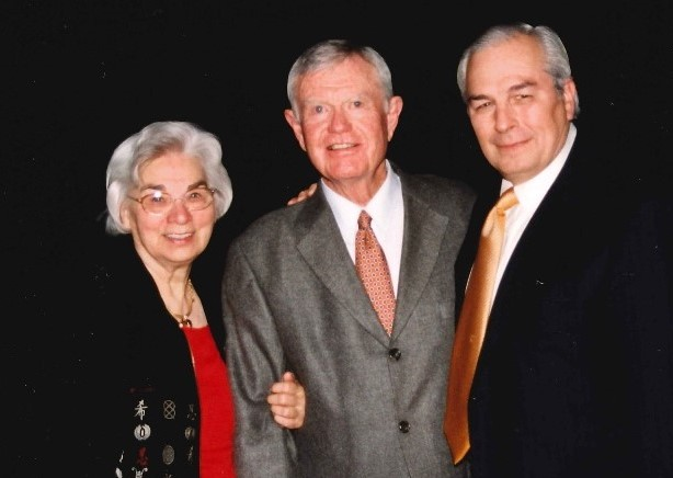 Edith and Darrell Royal with Gene Powell