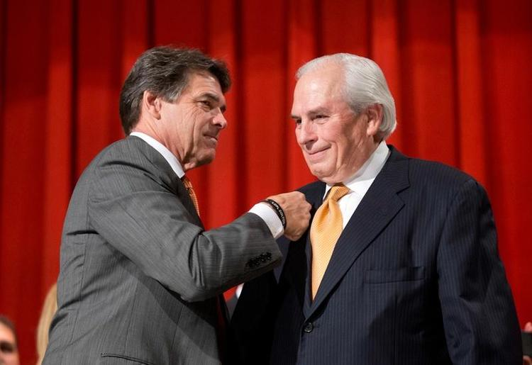 Gene Powell and Governor Perry