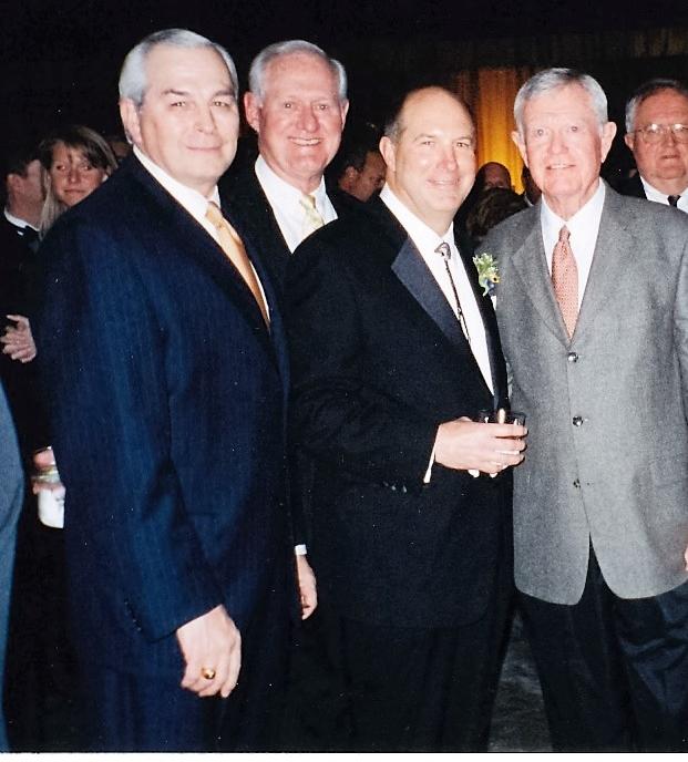 Gene Powel, Loyd Wainscott, Linus Baer, Coach Royal