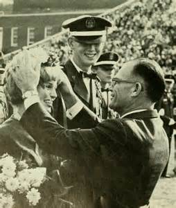 President Elkins crowning the Homecoming Queen