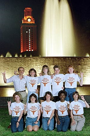 Cross Country and Long Distance- Men and Women   1986 Coach Crawfords's Cross Country team is National Champions  Legacy Longhorn cross country runners represent a Portal To The Past That Reminds Longhorns  That Heritage Shapes The Present And Empowers The Future.