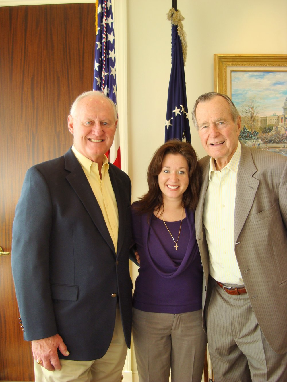 Loyd and Angie Wainscott with President Bush -