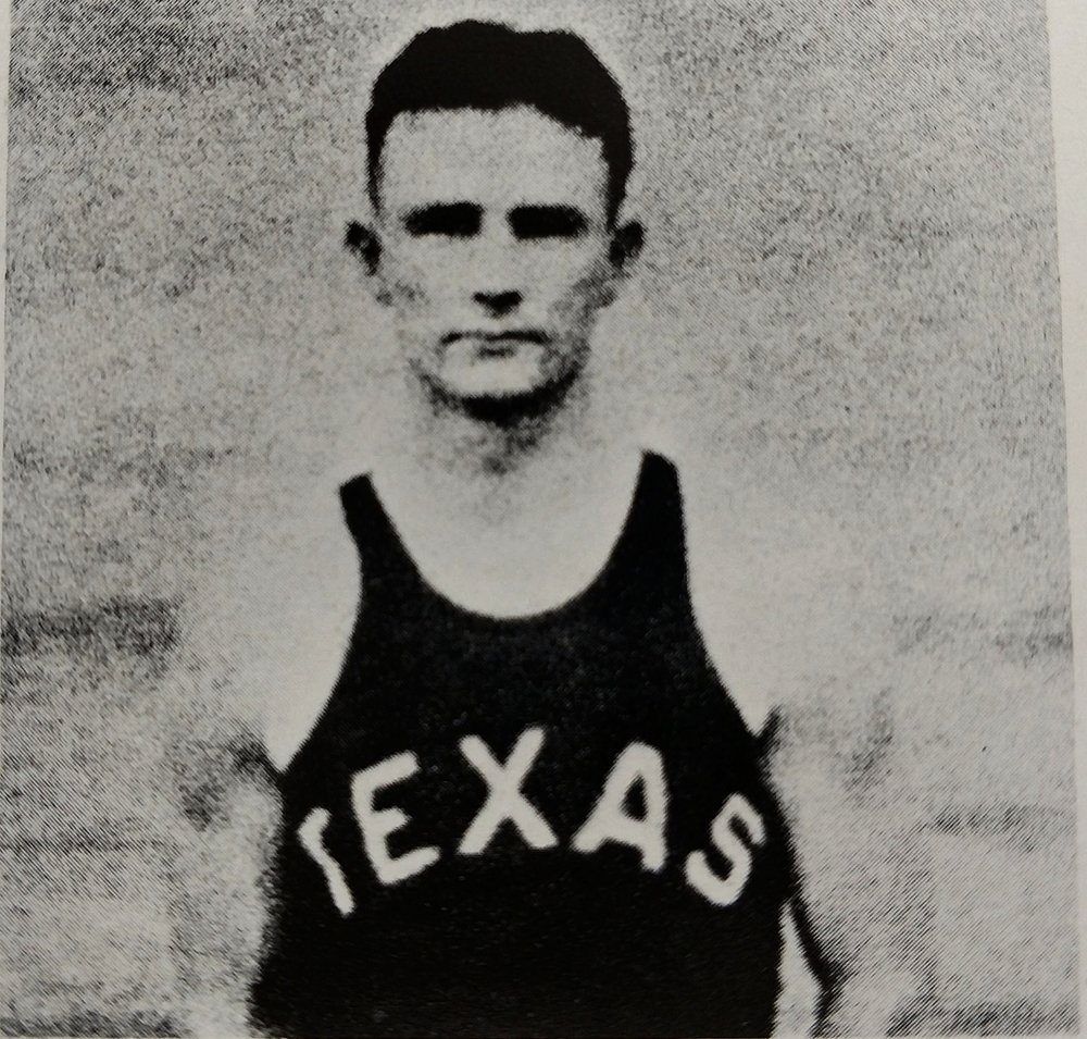 Ed Price in the 30's won 8 letters with the Longhorns and played on championship teams in football, basketball, and baseball. He was head coach of the football team starting in 1951. -