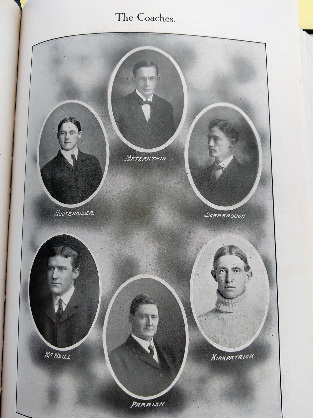 1908 coaching staff