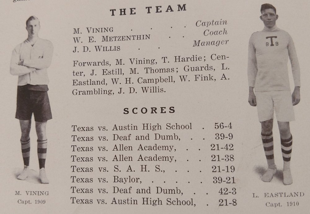Captains - teams played high schools and the School for the Deaf and Dumb  -