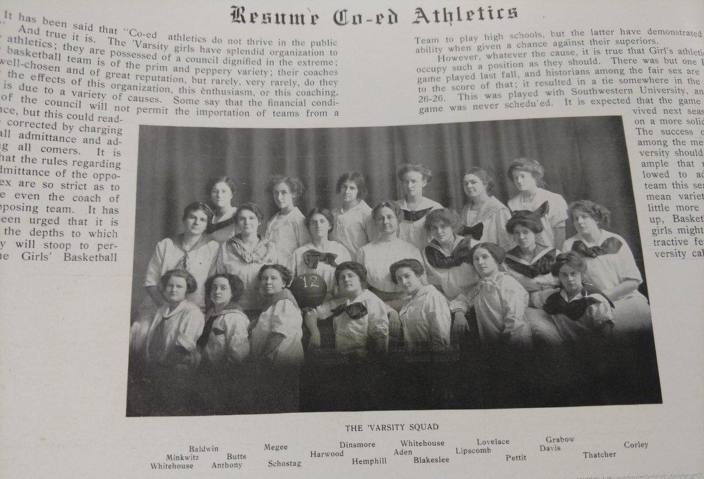 Basketball 1912 -