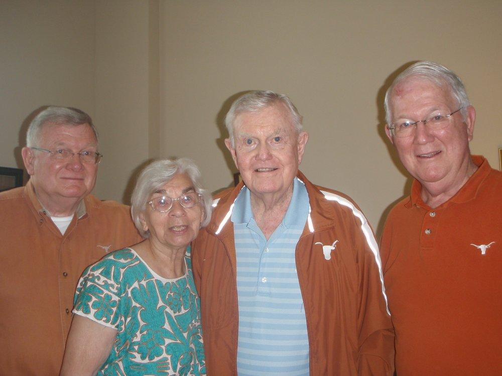 Drew Morris, Edith Royal, Darrell Royal, and Brett Morris