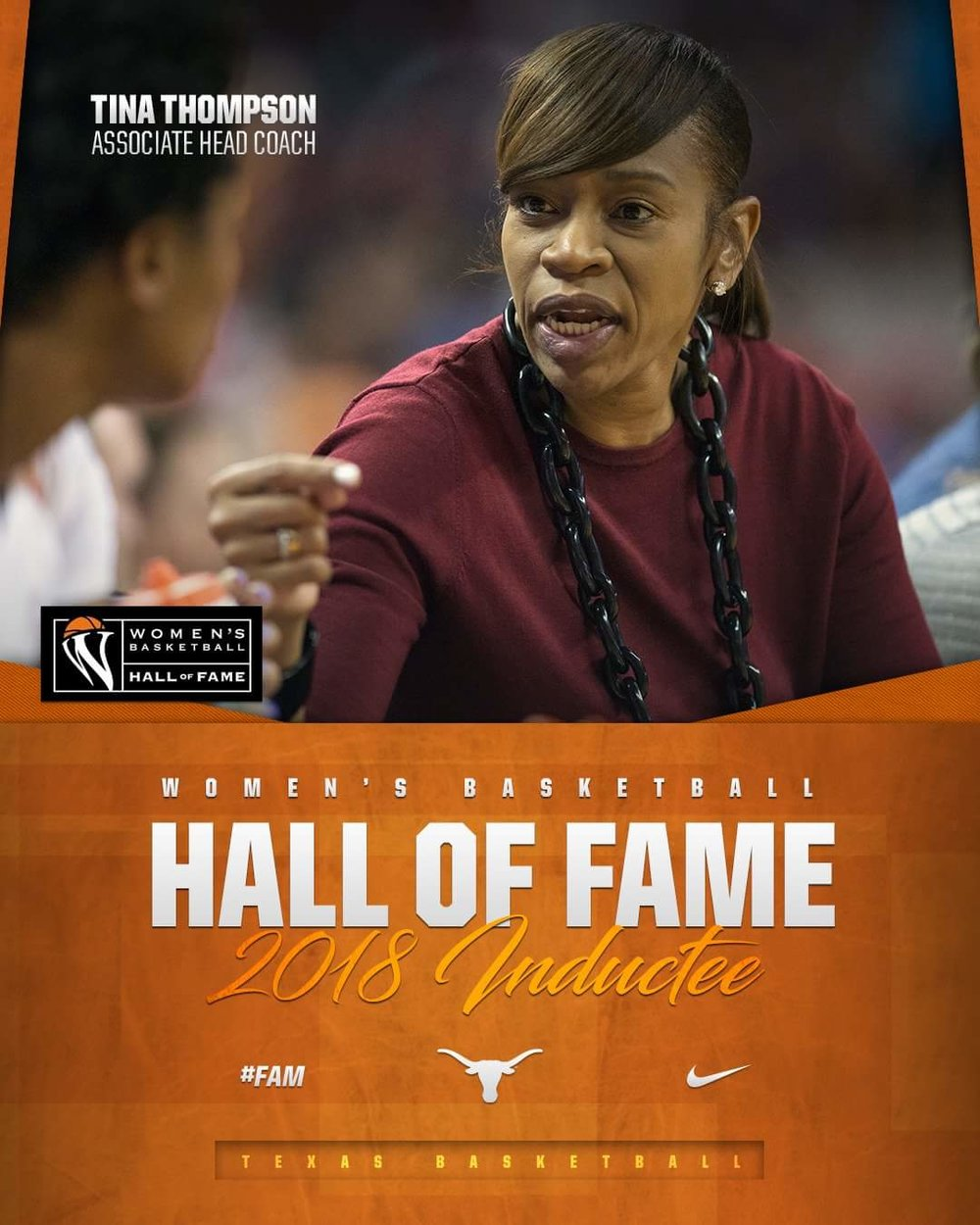 Tina Thompson inducted 2018