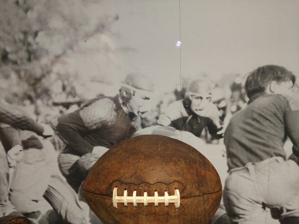 I have never seen one image of Longhorn football player using a rubber nose mask to protect their nose and teeth, but there is an image in the LBJ Library that states this mask was used frome 1890's thru the 1920's.