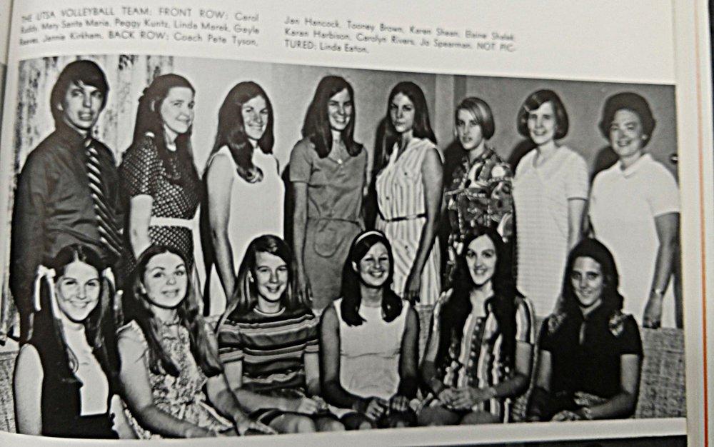 1971 Coach Pete Tyson volleyball team