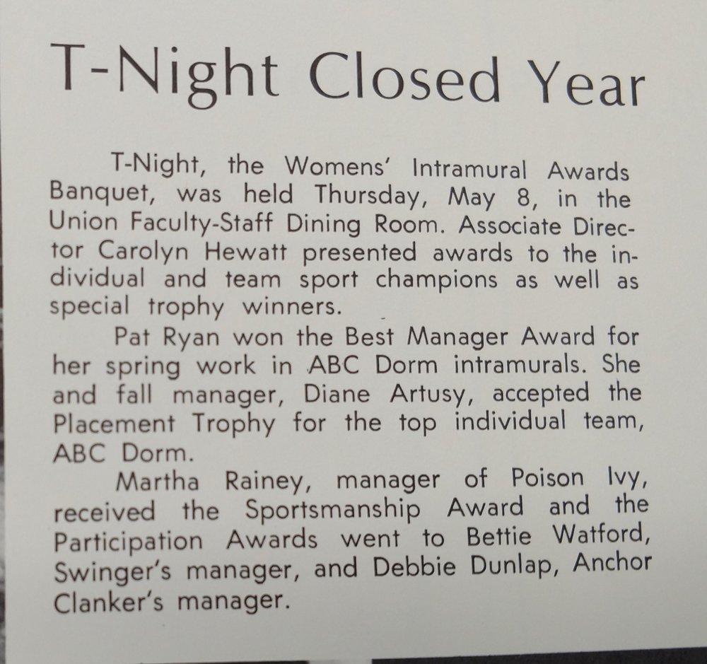 1969 Awards Banquet
