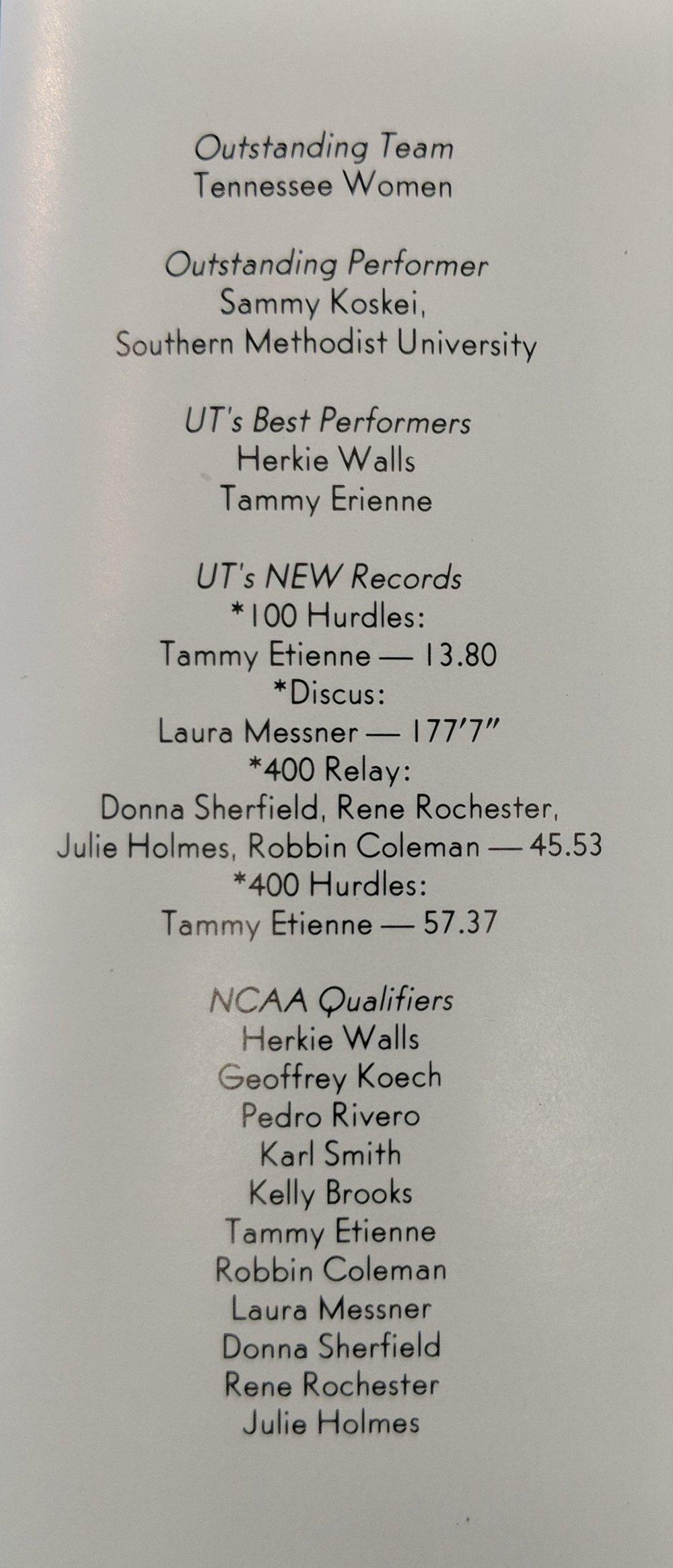 1981 Texas Relays