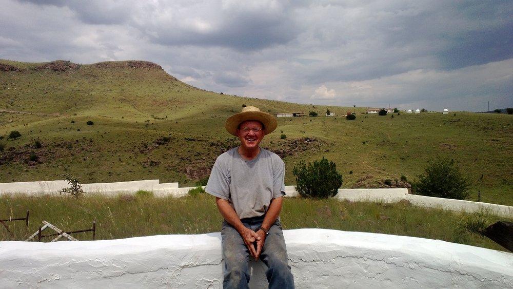 Glen at his compound in Fort Davis 2013.