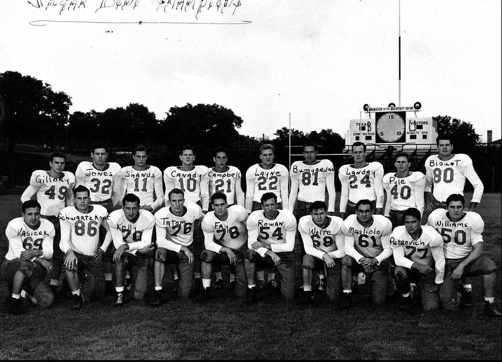 - Photo is not of the players on the 1949 Orange Bowl team, but is used as a reference for images of some of the players Gaylon refers to in the full article.