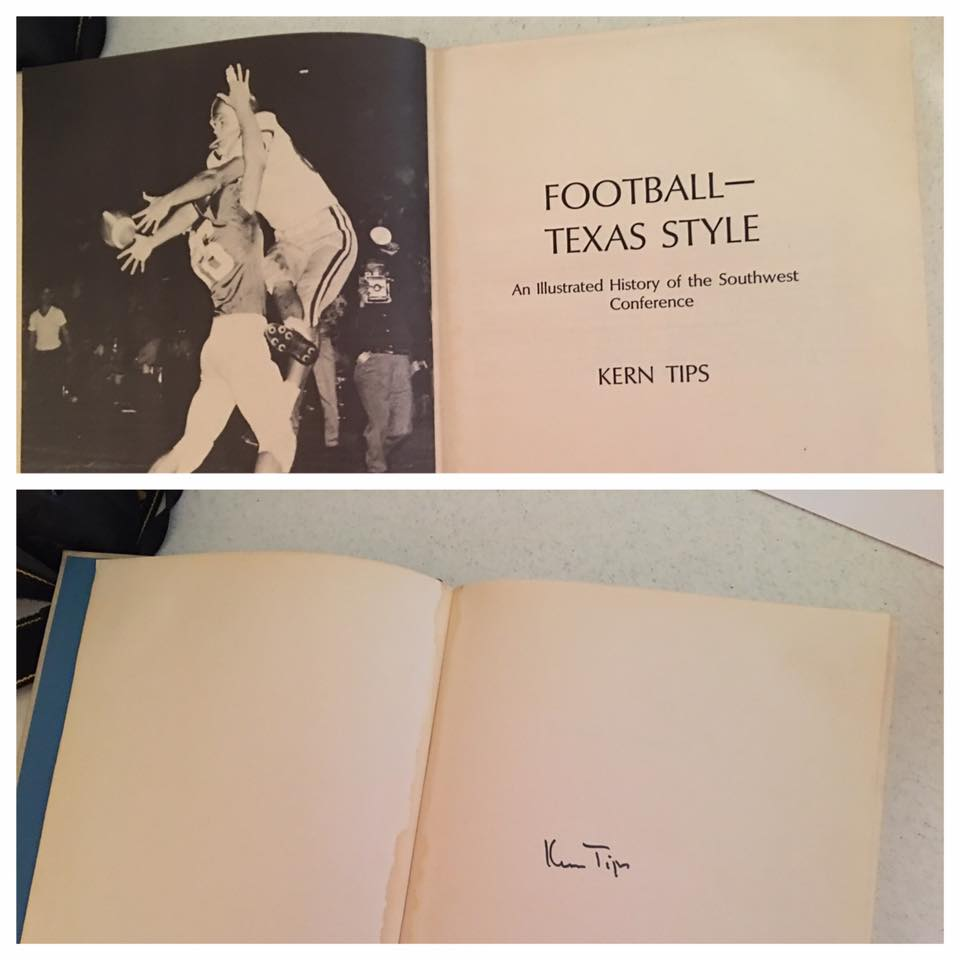 Autograph copy of Football Texas Style