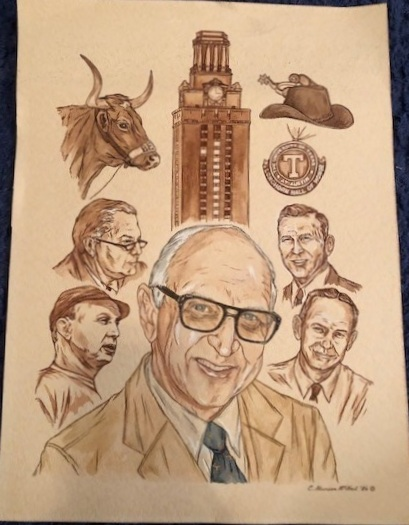 Cathy Munson did this artwork for Bob's first retirement. -