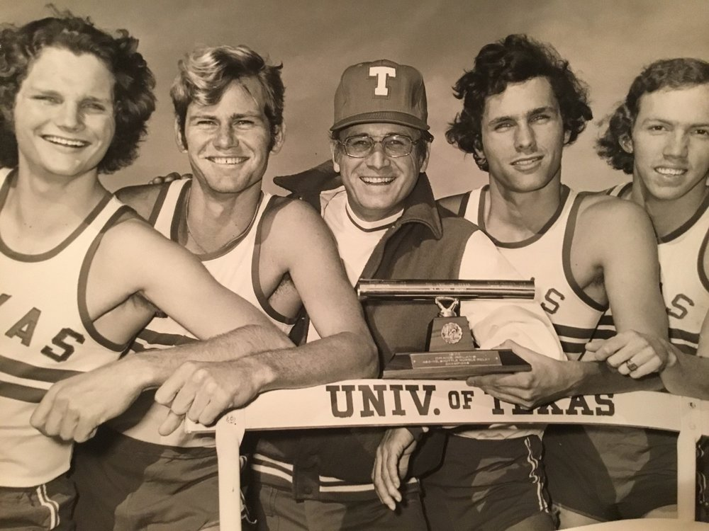 1972- Randy Lightfoot, Jim Heredon, Coach Price, Robert Premeaux, Gordon Hodges -