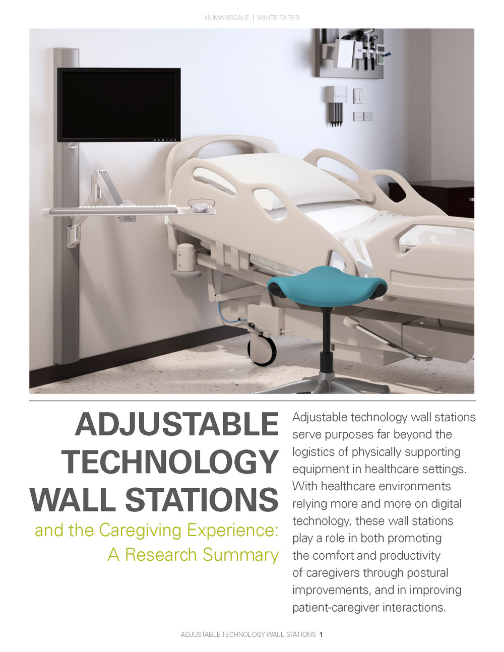 Adjustable Technology Wall Stations and the Caregiving Experience: courtesy of Humanscale