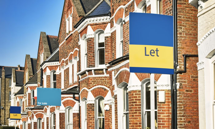 A row of buy-to-let houses