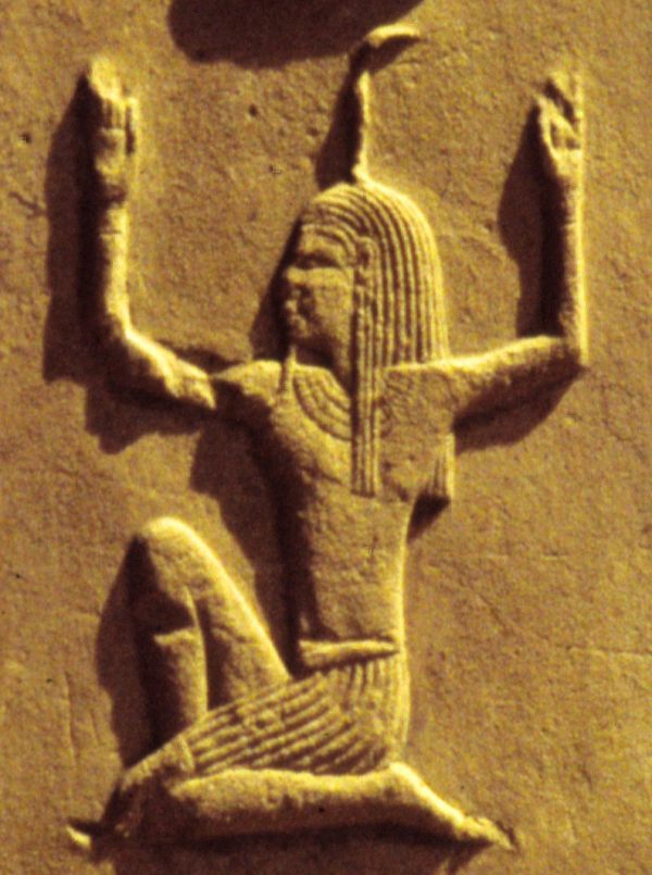 'Heh' the god, and hieroglyph for 'millions'