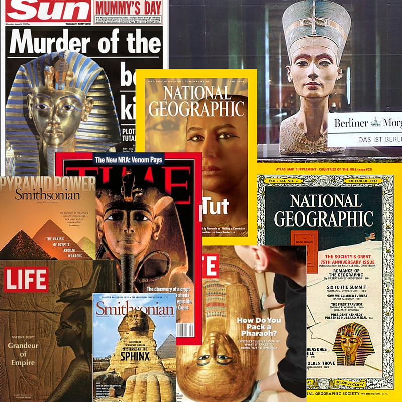 Magazine and Newspaper front covers over the ages. Images © National Geographic, Smithsonian, Time, Life and Sun Newspaper.
