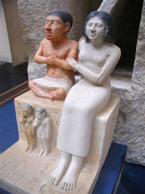 Seneb and his wife. Image: Jon Bodsworth
