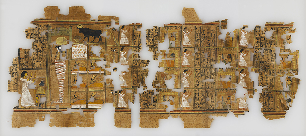A sheet of the Papyrus of Ramose, E.2.1922