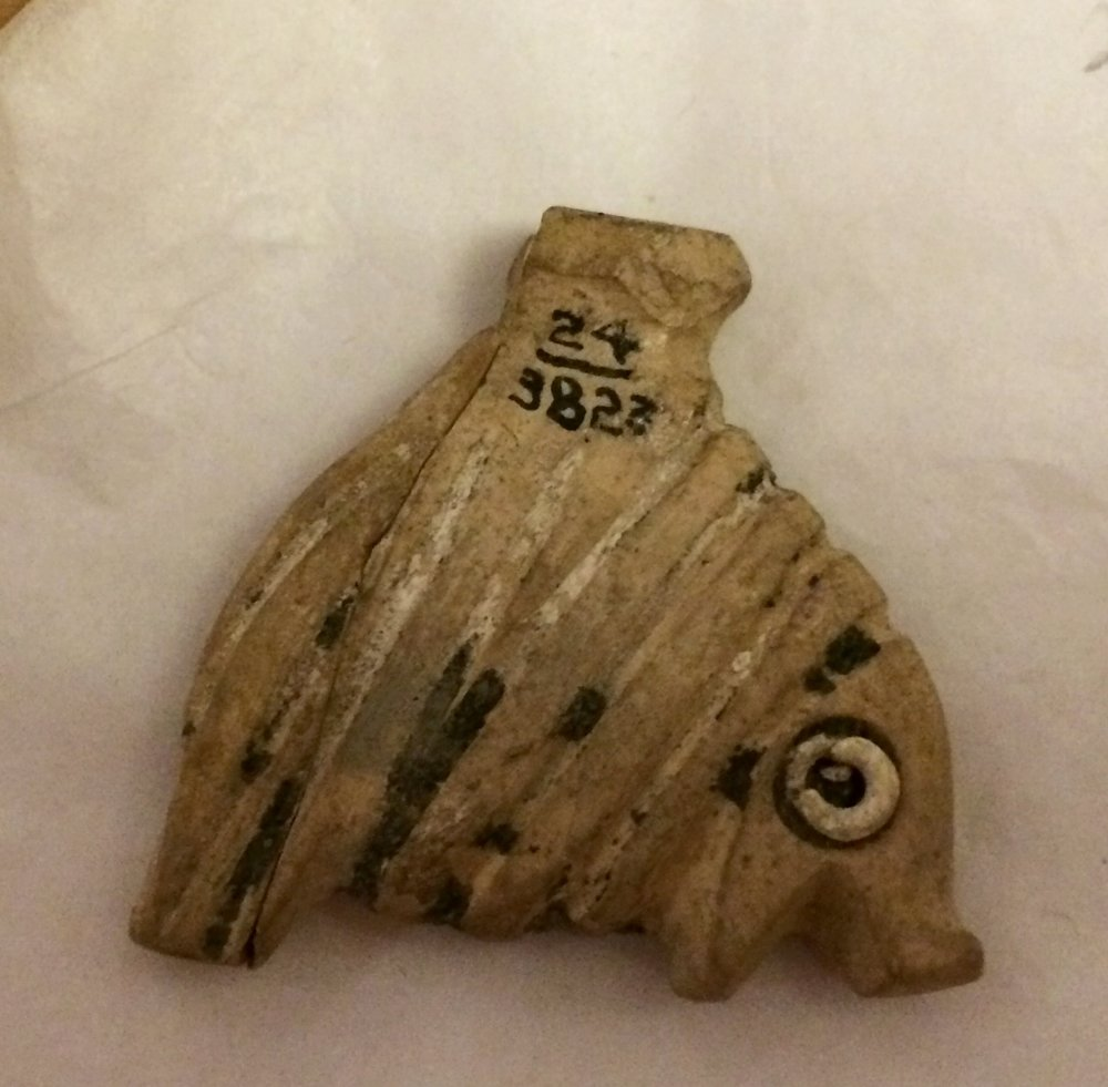 Predynastic hippo amulet from Petrie Museum collection