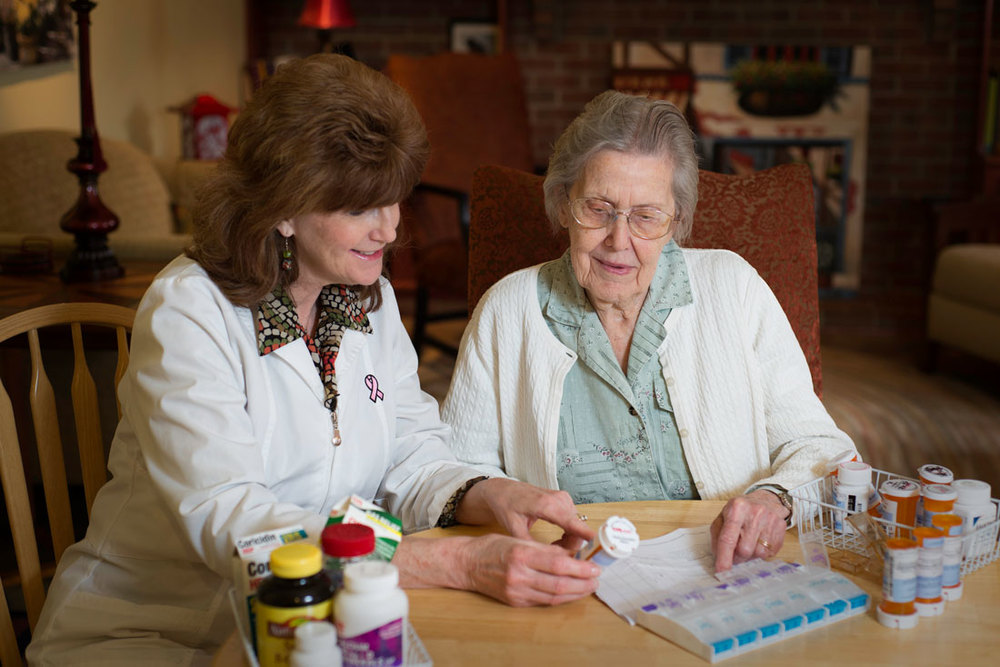 Jeanie L. Sadler, licensed, clinical pharmacist, specializing in medication therapy management for senior citizens who take prescription and over the counter (OTC) medications.