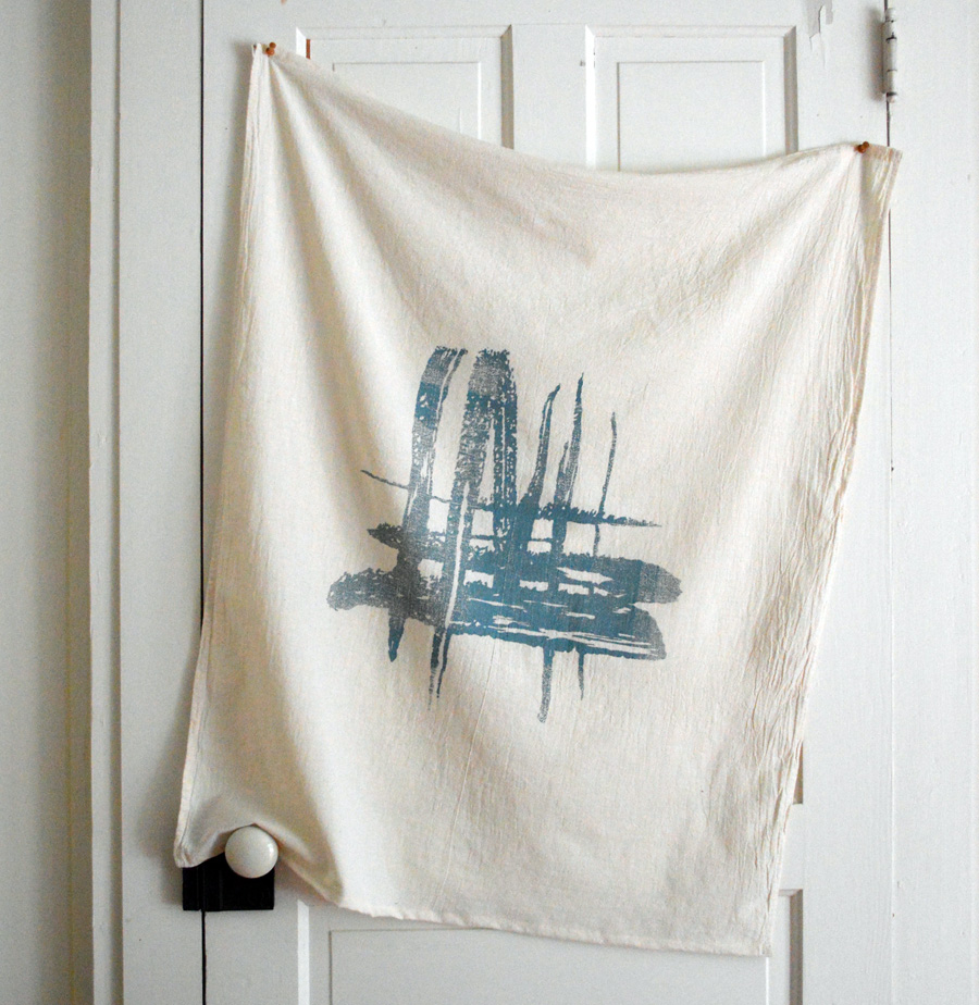 brush strokes towel