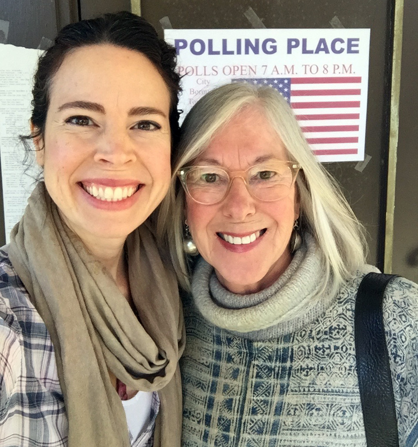 Me and my Mom after casting our votes for Hillary on November 8th 2016.