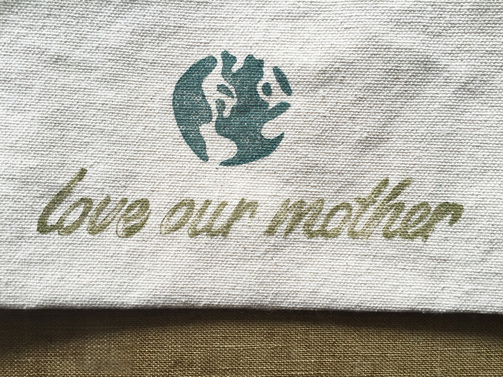 love our mother ~ zip pouch by Untold Imprint