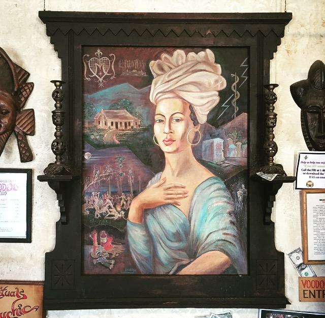 portrait of Marie Laveau by Charles Gandolfo at the Historic Voodoo Museum