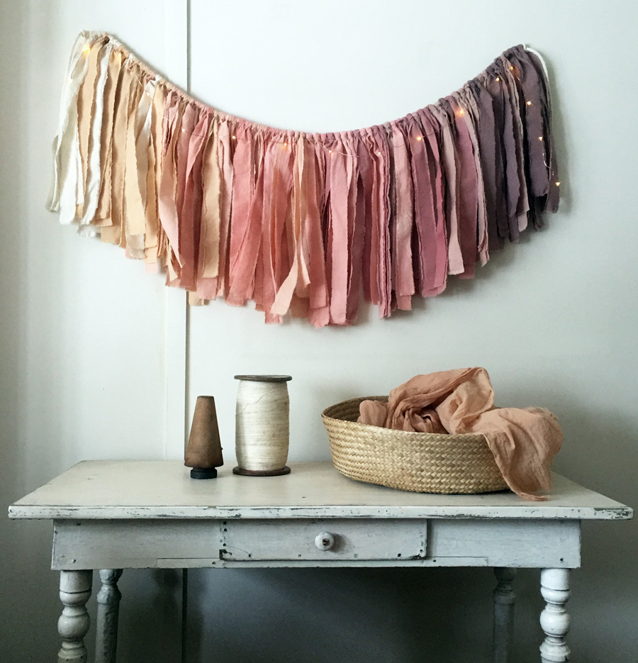 Untold Imprint Naturally Dyed Fading Light Mini Garland