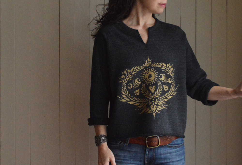New Moon shirt in Obsidian by Untold Imprint