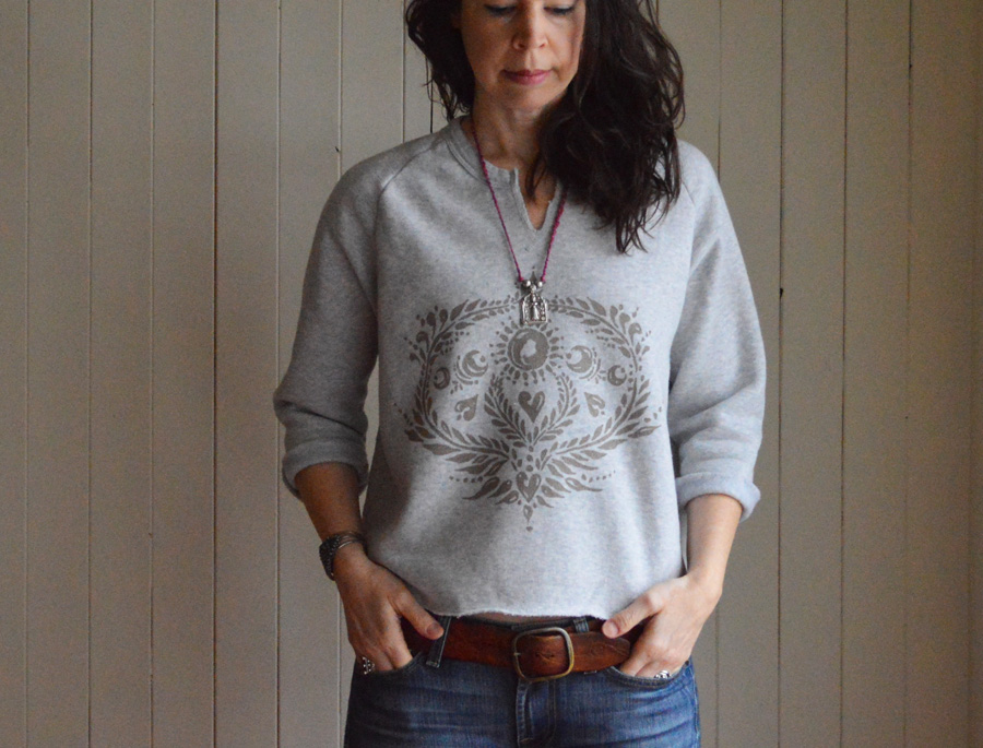 New Moon sweatshirt by Untold Imprint in Cloud Grey