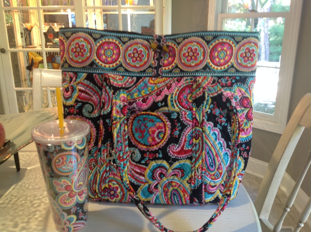 Vera Bradley Tote and Travel Tumbler