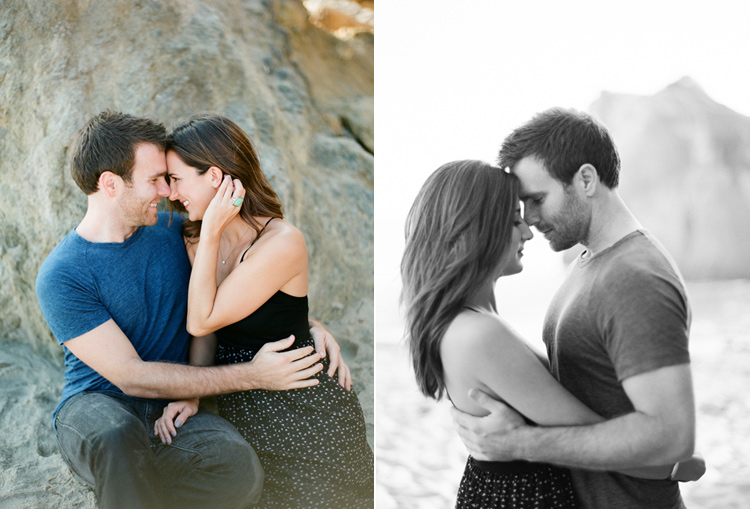 EL MATADOR BEACH ENGAGEMENT SESSION PHOTO