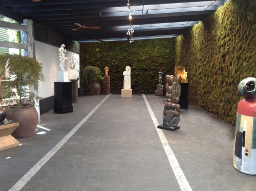 The Moss Zone Sculpture Garden at the Paul Mahder Gallery