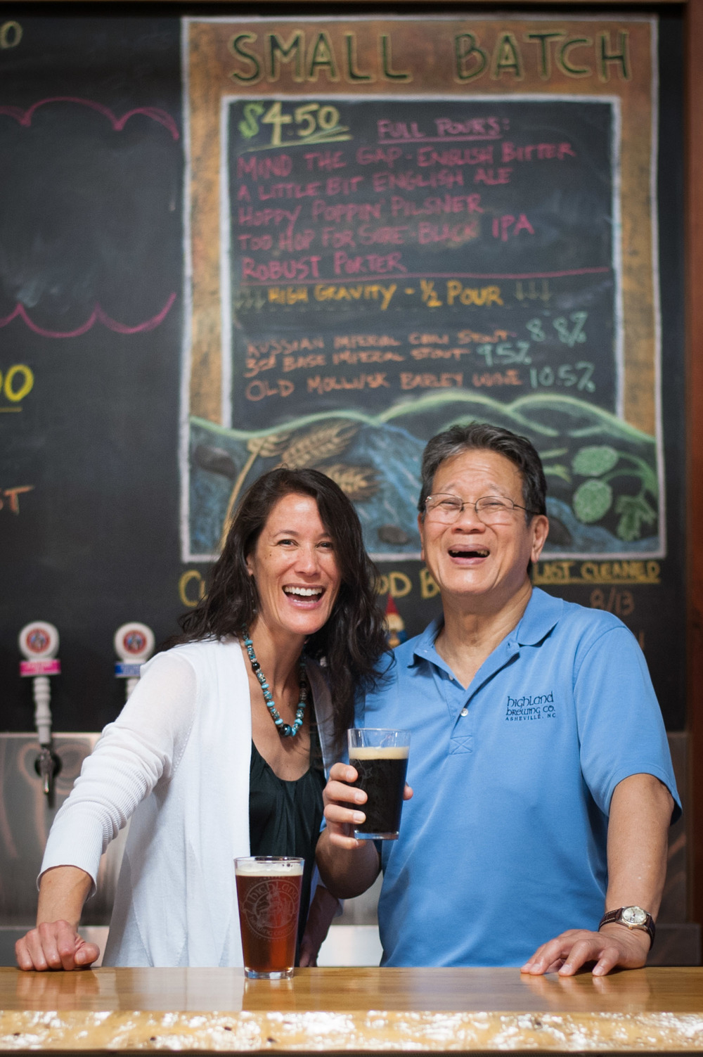 Leah Wong-Ashburn and Oscar Wong, Highland Brewing Company