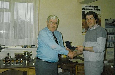 25 YEARS' SERVICE AWARD FROM JOHN MACDONALD IN THE 80s (Right)