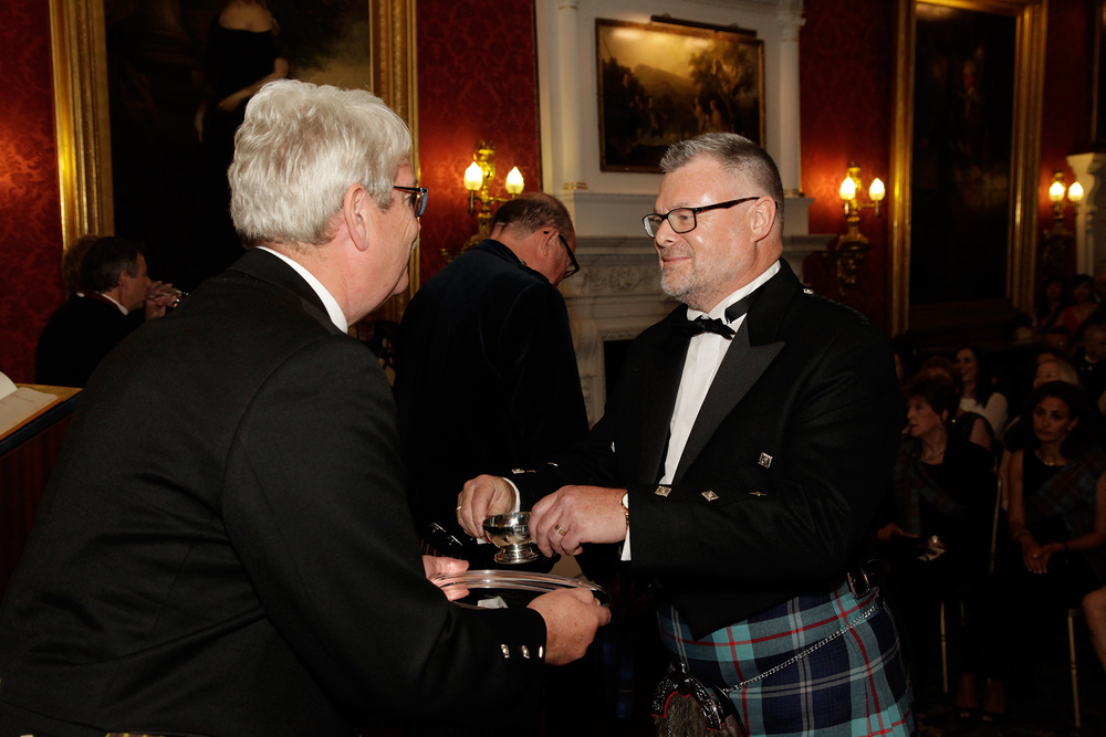 Robert receiving his quaich from fellow industry leader Michael Urquhart