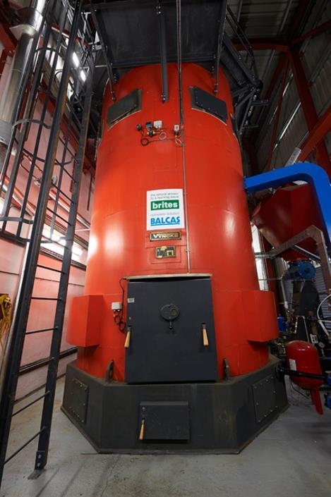 Our biomass boiler