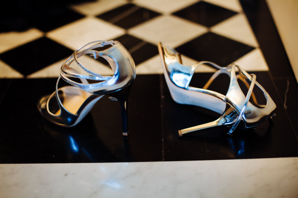 ©Heather Phelps-Lipton Photography / Jimmy Choo / wedding Shoes / the Marlton / NYC