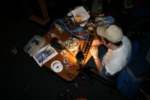 Dave Hidek at his workstation.