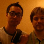 Tape Op Gear Reviews Editor Andy Hong and Recording Tips Editor Garrett Haines pictured at the 4th Annual Tape Op Conference in New Orleans.