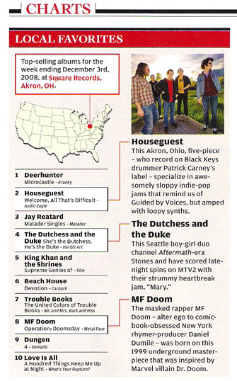 From Rolling Stone Issue 1068/1069 January 8, 2009